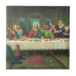 Religión del vintage, última cena con Jesucristo Azulejo Cuadrado Pequeño