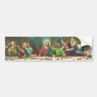 Religión del vintage, última cena con Jesucristo Pegatina Para Coche