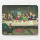 Religión del vintage, última cena con Jesucristo Mousepad