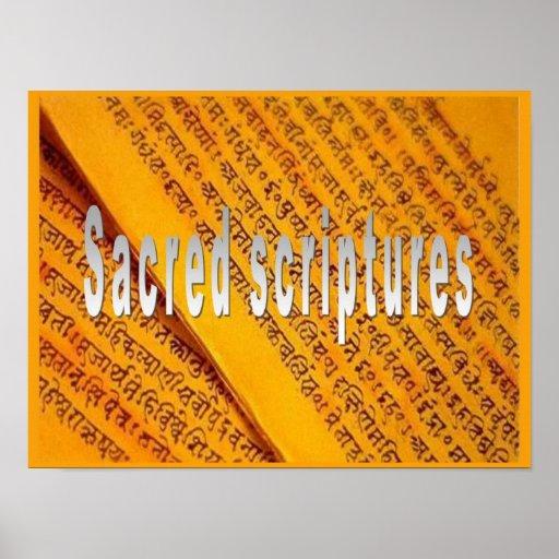 Religión, escritura, escrituras sagradas póster