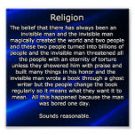 religión explicada poster
