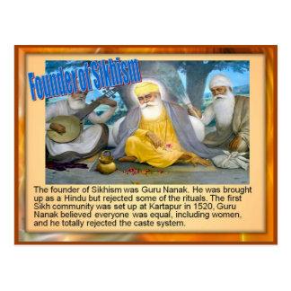 Religión, fundador del Sikhism Tarjeta Postal