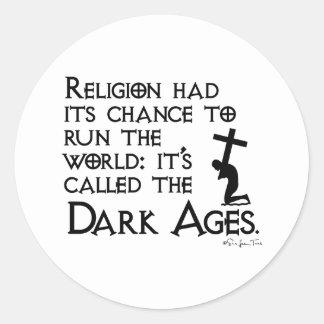 Religion Gave Us The Dark Ages 2 Sticker