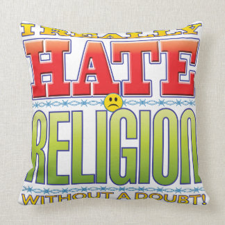 Religion Hate Face Pillow