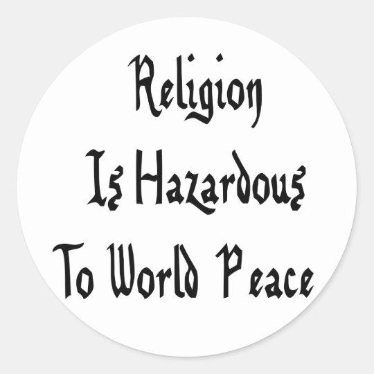 Religion Hazard Classic Round Sticker
