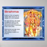Religión, Hinduism, dioses, Brahma Póster