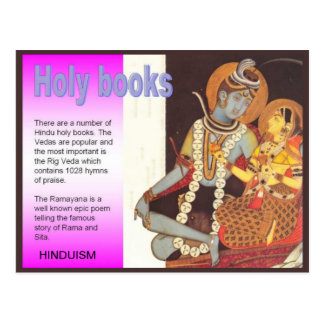 Religion, Hinduism, India, Hindu Holy Books Postcard