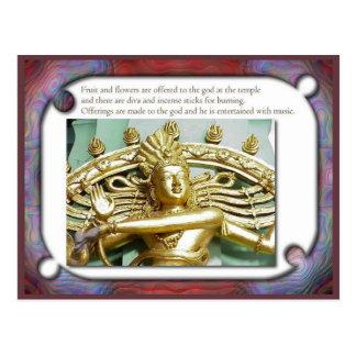 Religión, Hinduism, ofrendas a dioses Postal