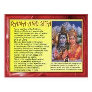 Religion, Hinduism, Rama and Sita Post Card