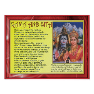 Religion, Hinduism, Rama and Sita Posters