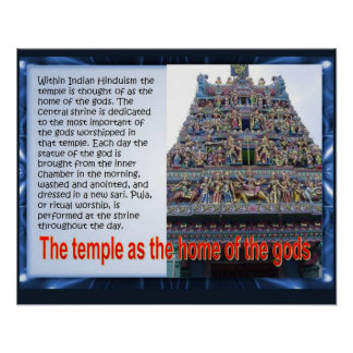 Religion, Hinduism, Temple, home of the gods Poster
