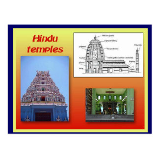 Religión Hinduism templos hindúes Postal