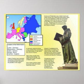 Religión, historia, descripción de la reforma póster
