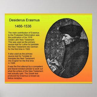 Religión historia Erasmo Poster