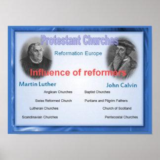 Religión, historia, influencia de los reformadores póster