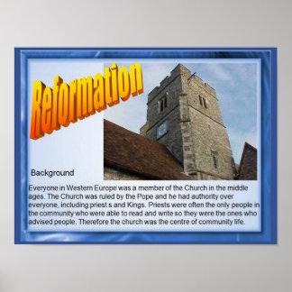 Religión, historia, reforma, fondo póster