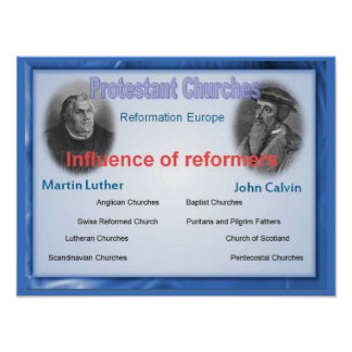 Religion, History, Influence of the reformers Poster