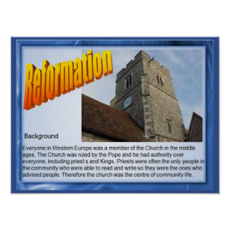 Religion, History, Reformation, background Poster