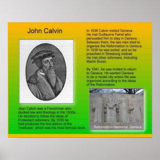 """Religion, History Reformation """"John Calvin"""" Poster"""