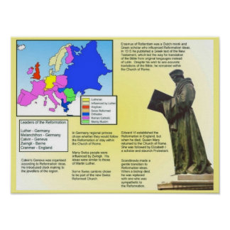 Religion, History, Reformation overview Poster