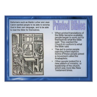 Religion, History, Reformation Printed Bibles Poster