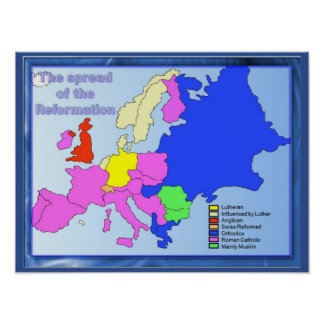 Religion, History, Spread of the Reformation Poster