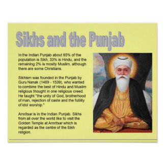 Religion, India Sikhs and the Punjab Poster