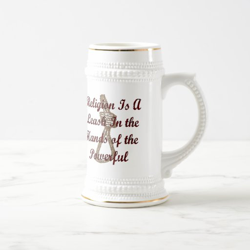 Religion Is A Leash 18 Oz Beer Stein