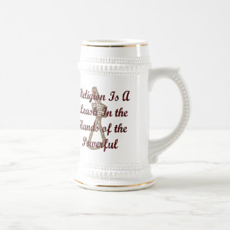 Religion Is A Leash Beer Stein