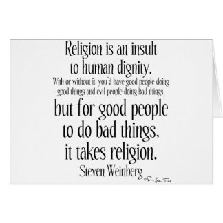 Religion Is An Insult Card