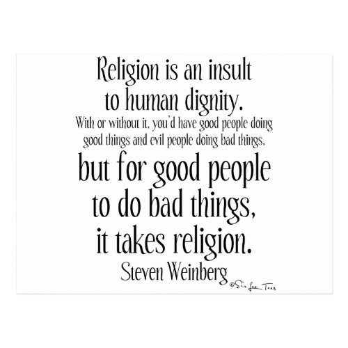 Religion Is An Insult Postcard
