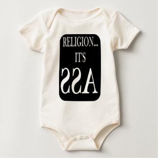 religion is backwards baby bodysuit