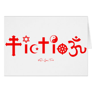 Religion is Fiction Greeting Card