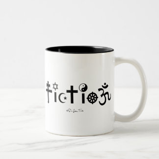 Religion is Fiction Two-Tone Coffee Mug
