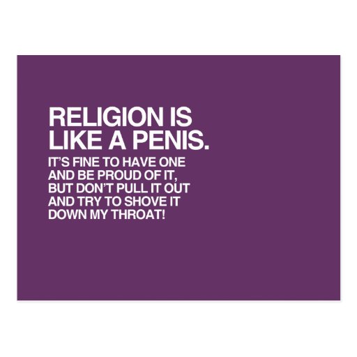RELIGION IS LIKE POST CARD