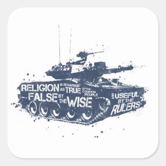 Religion is Regarded Square Sticker