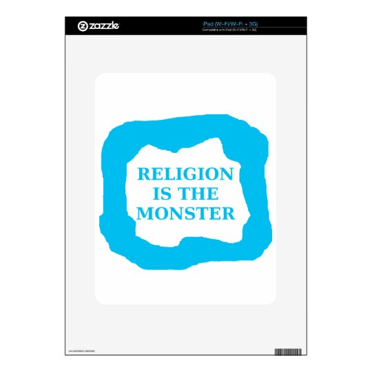 Religion is the monster 2 .PNG Skin For iPad