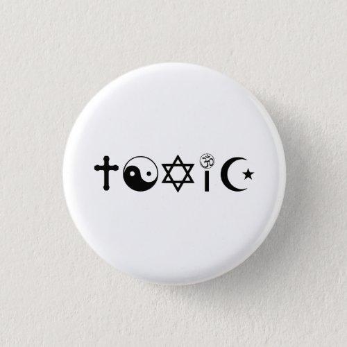 Religion Is Toxic Freethinker Button