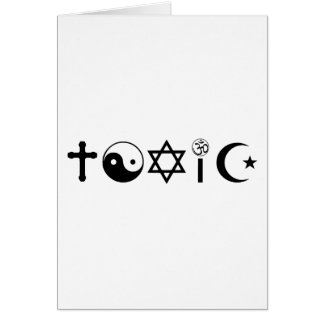 Religion Is Toxic Freethinker Card