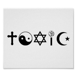 Religion Is Toxic Freethinker Poster
