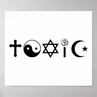 Religion Is Toxic Freethinker Poster