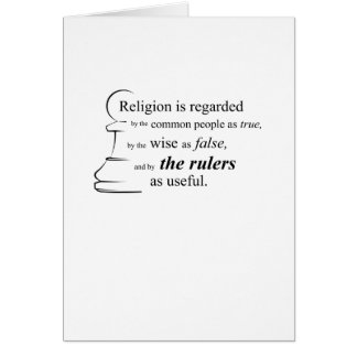 Religion is useful greeting card