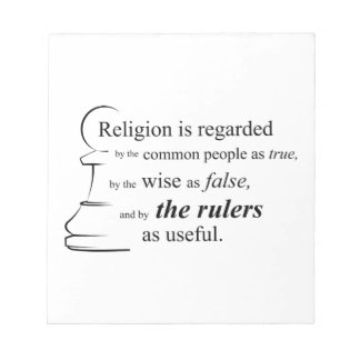 Religion is useful note pad