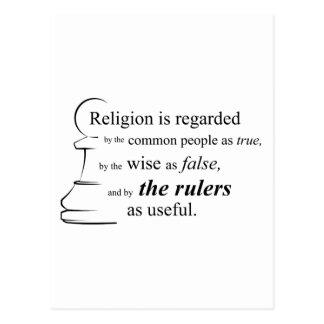 Religion is useful postcard