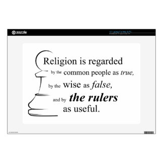 Religion is useful skin for laptop