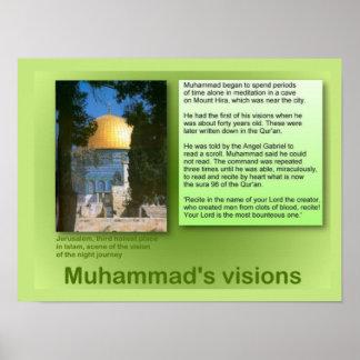 Religión, Islam, las visiones de Mohamed Impresiones