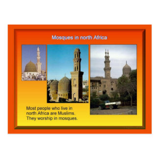 Religión, Islam, mezquitas africanas del norte Postal