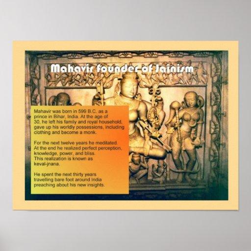 Religión, jainismo, Mahavir Póster