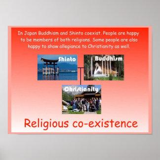 Religion, Japan, religious co-existence Poster