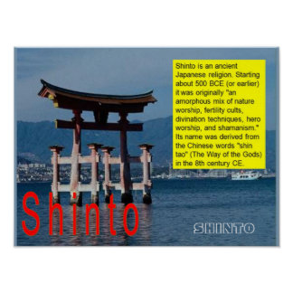 Religion, Japan, Shinto introduction Poster